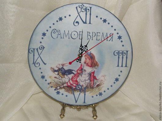 """Часы для дома ручной работы. Ярмарка Мастеров - ручная работа. Купить Часы """"Алиса"""". Handmade. Часы, настенные часы, подарок"""