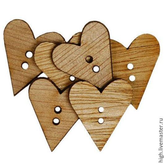 Набор пуговиц Favorite Findings Simple hearts, арт 809