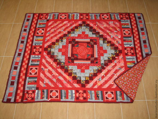 """Текстиль, ковры ручной работы. Ярмарка Мастеров - ручная работа. Купить лоскутное одеяло """"Весна-Красна"""". Handmade. народные промыслы"""