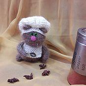 """Куклы и игрушки ручной работы. Ярмарка Мастеров - ручная работа Кот вязаный """"Повар"""". Handmade."""