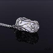 Украшения ручной работы. Ярмарка Мастеров - ручная работа Горный хрусталь в серебре. Handmade.