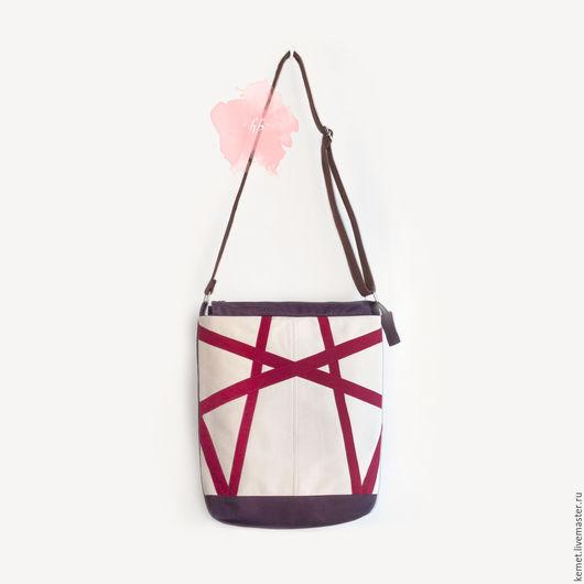 """Женские сумки ручной работы. Ярмарка Мастеров - ручная работа. Купить """"Закат"""" - сумка для левши.. Handmade. Комбинированный, текстильная сумка"""