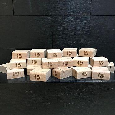 Дизайн и реклама ручной работы. Ярмарка Мастеров - ручная работа Ценникодержатель из бука (подставка под ценник). Handmade.
