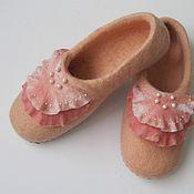 """Обувь ручной работы. Ярмарка Мастеров - ручная работа тапочки, """"ракушка"""". Handmade."""