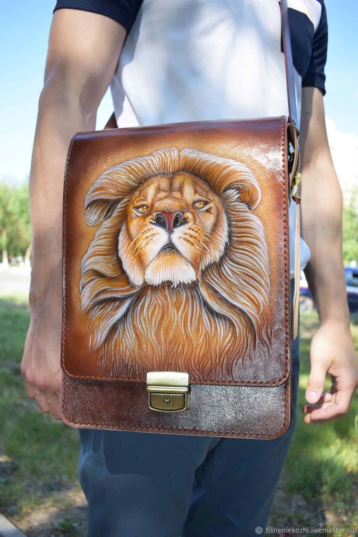 Men's leather casual bag, Men\'s bag, Orenburg,  Фото №1