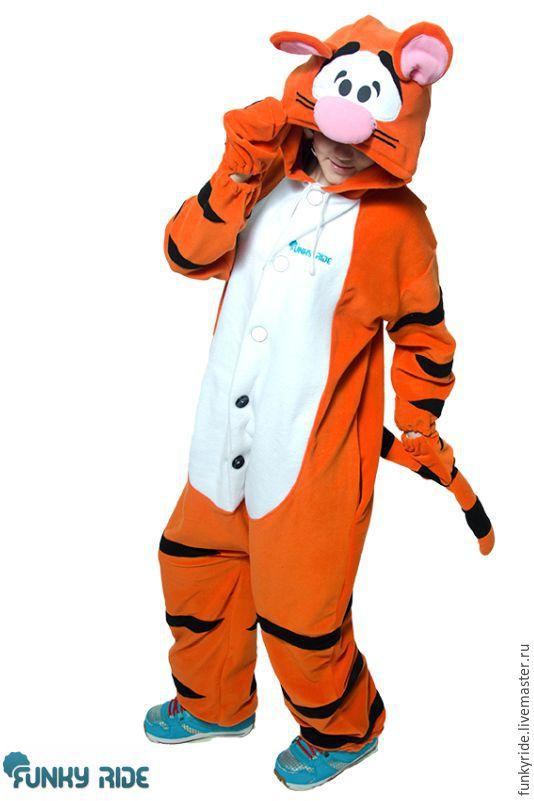 Tiger Kigurumi - Disney - Custom Handmade - Anti-pill Fleece Pyjamas, Suits, Magnitogorsk,  Фото №1