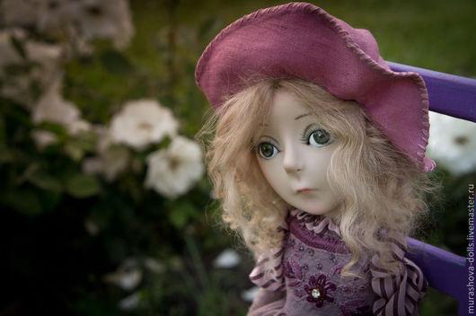 Коллекционные куклы ручной работы. Ярмарка Мастеров - ручная работа. Купить Фиалка. Handmade. Фиолетовый