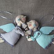 Мягкие игрушки ручной работы. Ярмарка Мастеров - ручная работа Ангелы: мятный, да серый..... Handmade.