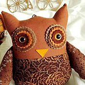 Куклы и игрушки ручной работы. Ярмарка Мастеров - ручная работа Сова коричнево-шоколадная Совушка интерьерная. Handmade.