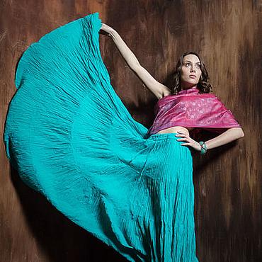Одежда ручной работы. Ярмарка Мастеров - ручная работа Длинная юбка из тонкого хлопка. Handmade.