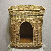 Для домашних животных, handmade. Livemaster - original item A house with a couch for the cats from the vine. Handmade.