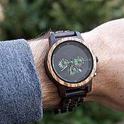 Часы наручные ручной работы. Ярмарка Мастеров - ручная работа Деревянные наручные часы Woodee Aviator. Handmade.