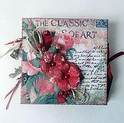 """Фотоальбомы ручной работы. Ярмарка Мастеров - ручная работа Мини альбом для фотографий """"Розовый сад"""". Handmade."""