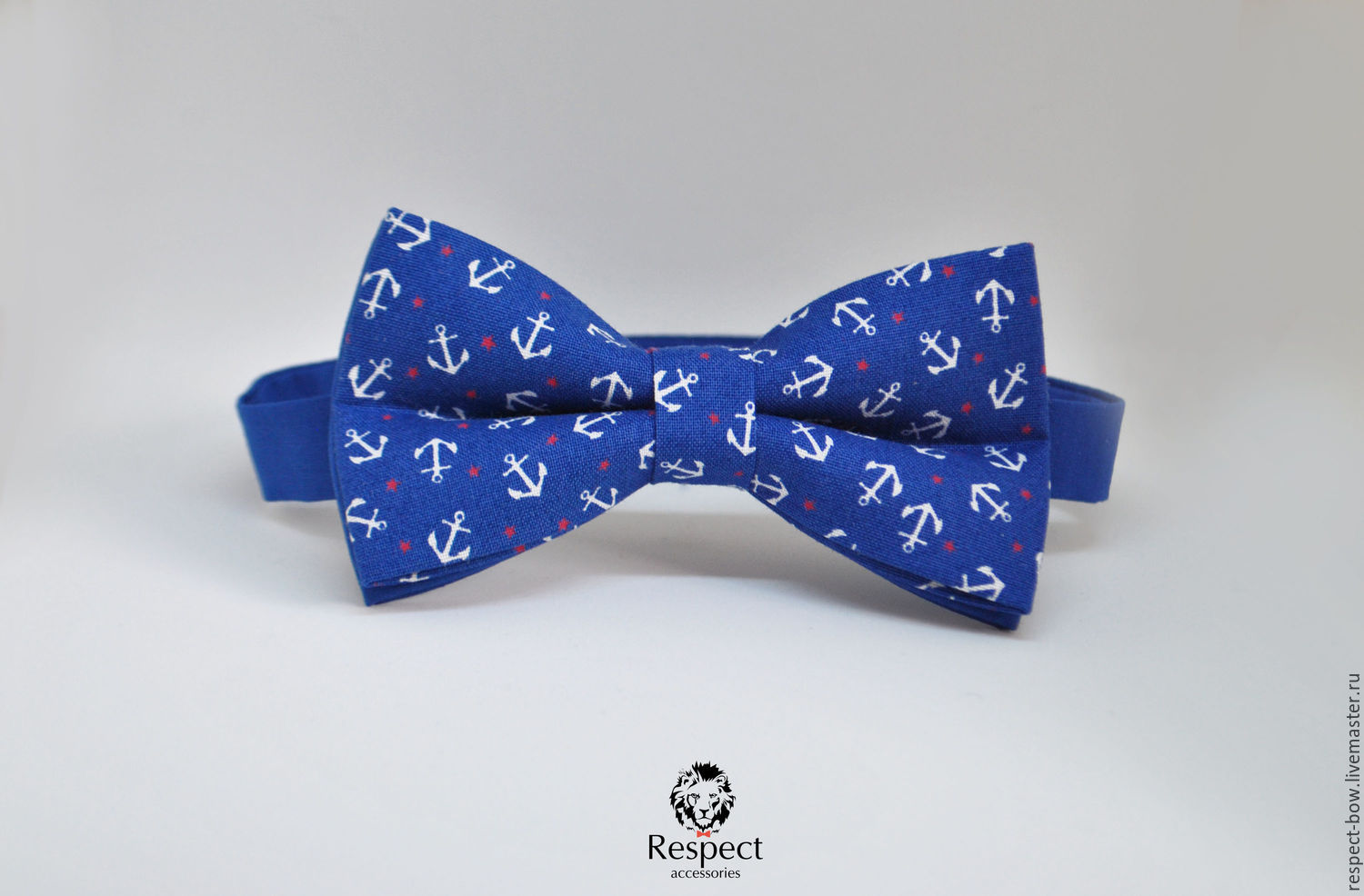 Tie Frigate / blue bow tie with anchors, Ties, Moscow,  Фото №1