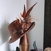 Украшения handmade. Livemaster - original item Hairpin brooch made of feathers. Handmade.