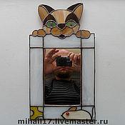 """Для дома и интерьера ручной работы. Ярмарка Мастеров - ручная работа зеркало """"Кошки-мышки"""". Handmade."""