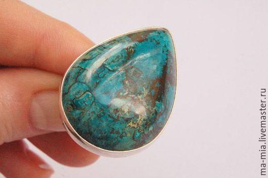 Кольца ручной работы. Ярмарка Мастеров - ручная работа. Купить кольцо Хризоколла в серебре 2.0. Handmade. Комбинированный
