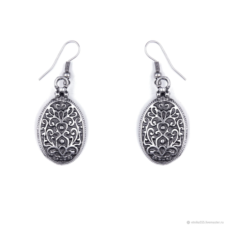 Earrings Byzantine oval, Earrings, Belaya Cerkov,  Фото №1