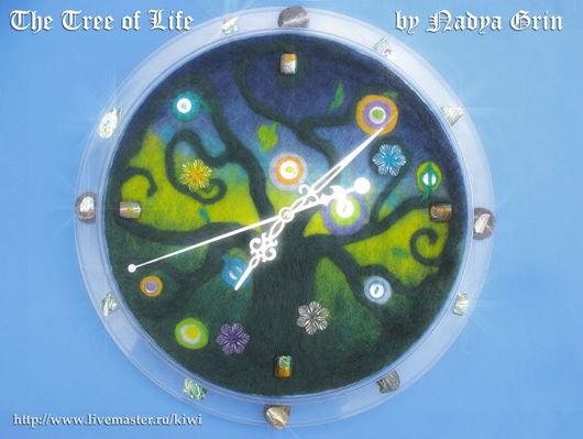 Часы для дома ручной работы. Ярмарка Мастеров - ручная работа. Купить «Дерево Жизни» настенные часы. Handmade. часы интерьерные
