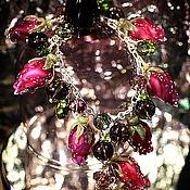 """Украшения ручной работы. Ярмарка Мастеров - ручная работа Браслет """"Розовые бутоны"""". Handmade."""