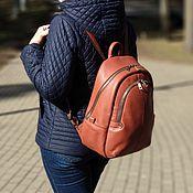 Сумки и аксессуары handmade. Livemaster - original item Backpack women`s leather red Caprice Mod. R. 44-102. Handmade.