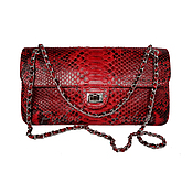 Сумки и аксессуары handmade. Livemaster - original item Handbag made of Python CUORE. Handmade.
