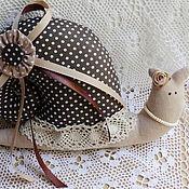 Куклы и игрушки ручной работы. Ярмарка Мастеров - ручная работа Тильда - улитка Кофейная. Handmade.