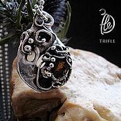 """Украшения ручной работы. Ярмарка Мастеров - ручная работа кулон с турмалином """"Organic"""" silver. Handmade."""