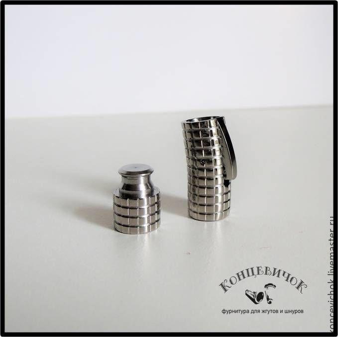Для украшений ручной работы. Ярмарка Мастеров - ручная работа. Купить Замок механический 8мм в квадрат нержавеющая сталь. Handmade.