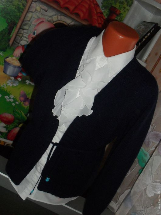 Пиджаки, жакеты ручной работы. Ярмарка Мастеров - ручная работа. Купить Кардиган школьный.. Handmade. Тёмно-синий, жакет женский