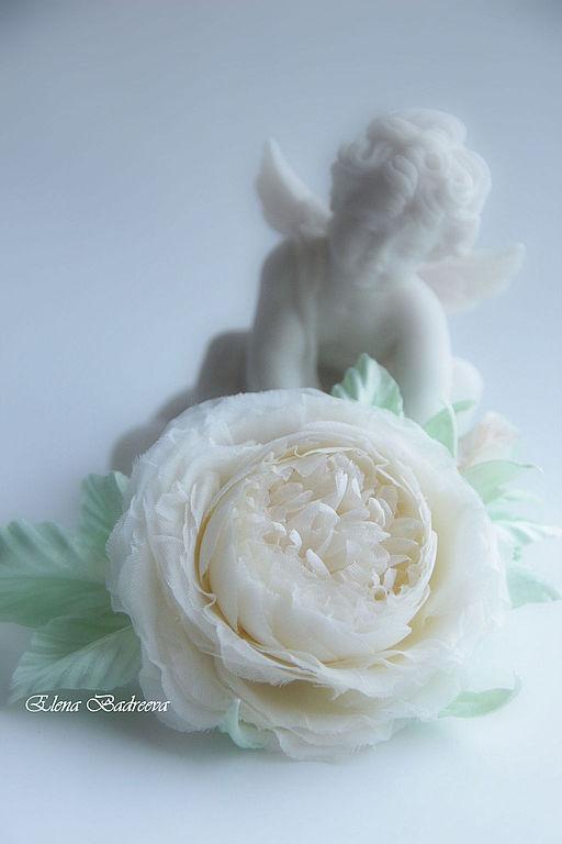 """Броши ручной работы. Ярмарка Мастеров - ручная работа. Купить Брошь веточка розы """"Нежность-2"""". Handmade. Бежевый"""