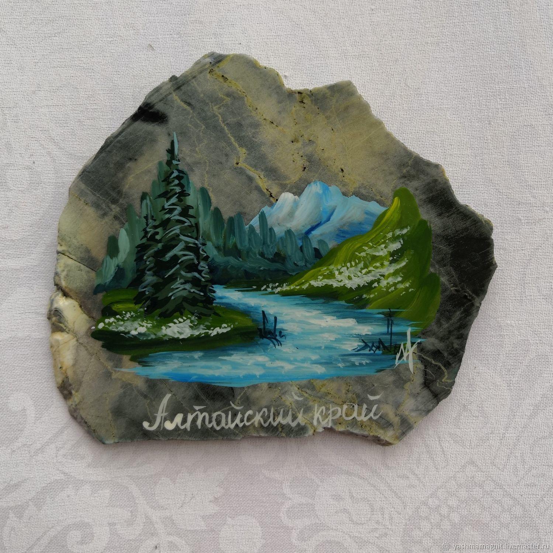 Río Altai Imán De Piedra Révnevskaya Jaspe Pintura De Piedra купить на ярмарке мастеров Irqstcom магниты Zmeinogorsk