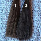 Материалы для творчества ручной работы. Ярмарка Мастеров - ручная работа Волосы прямые 15см 2 цвета. Handmade.