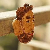Картины и панно ручной работы. Ярмарка Мастеров - ручная работа Голова мужчины на магните. Handmade.