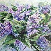 Картины и панно handmade. Livemaster - original item Painting flowers with oil on holste siren raging. Handmade.