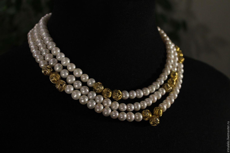 Beads ' Pearl classics', Necklace, Nizhny Novgorod,  Фото №1