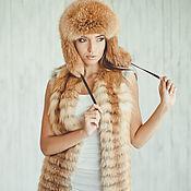 Одежда ручной работы. Ярмарка Мастеров - ручная работа Меховой жилет 90 см. Handmade.