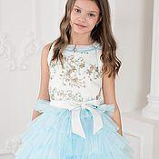 Платья ручной работы. Ярмарка Мастеров - ручная работа Платье нарядное каскадное. Handmade.