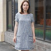Платье из твида на шелковом подкладе - платье в стиле Шанель