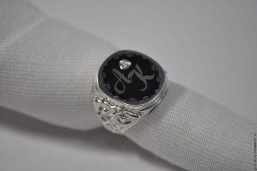 Кольца ручной работы. Ярмарка Мастеров - ручная работа. Купить Перстень серебряный с инициалами. Handmade. Печатка на заказ, печатка из серебра