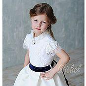 """Работы для детей, ручной работы. Ярмарка Мастеров - ручная работа Нарядное платье для девочки """"Афина"""" рост от 98 до 146. Handmade."""