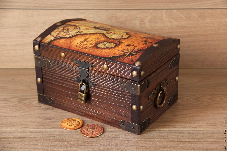 Trinket Bo Handmade Livemaster Treasure Chest Pirate Large