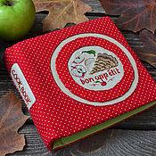 """Канцелярские товары ручной работы. Ярмарка Мастеров - ручная работа Блокнот с вышивкой на кольцах """"Apple Pie"""". Handmade."""