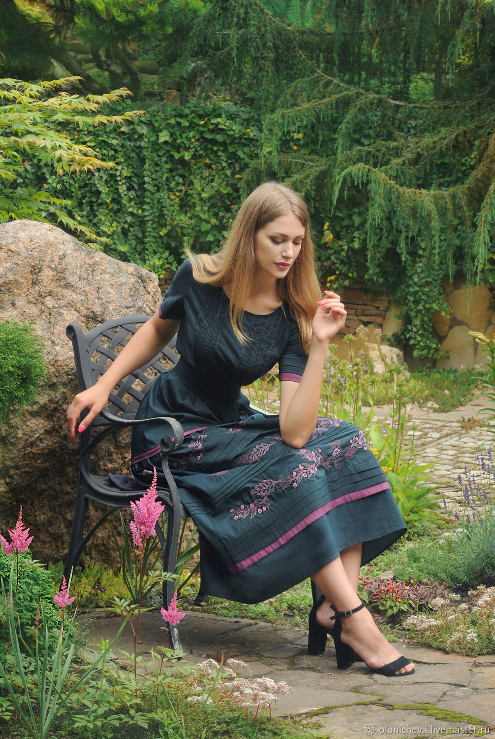 Summer dress with author's embroidery ' Aroma of berries', Dresses, Vinnitsa,  Фото №1