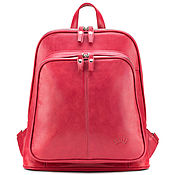"Сумки и аксессуары handmade. Livemaster - original item Кожаный рюкзак ""Бэтси"" (красный). Handmade."