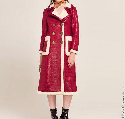 """Верхняя одежда ручной работы. Ярмарка Мастеров - ручная работа. Купить Дубленка """"красная"""". Handmade. Комбинированный, шуба, жилет, джинсы"""