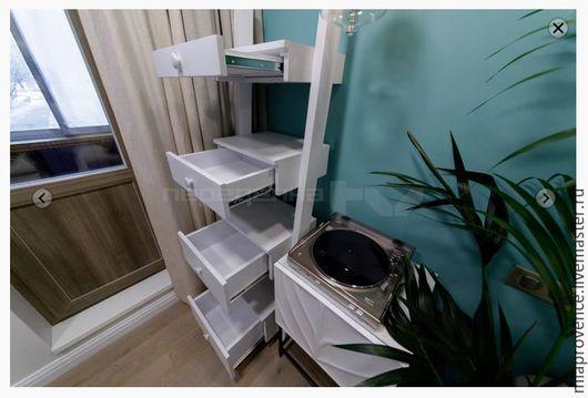 Мебель ручной работы. Ярмарка Мастеров - ручная работа. Купить Стеллаж 4 ящика. Handmade. Белый, мебель из дерева