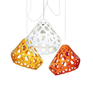 Освещение ручной работы. Ярмарка Мастеров - ручная работа ZAHA LIGHT трехцветная трехрожковая люстра 3. Handmade.
