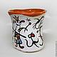 """Бокалы, стаканы ручной работы. Ярмарка Мастеров - ручная работа. Купить Стакан керамический """"Дада"""". Handmade. Керамический стакан, абстрактный"""