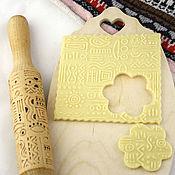 Для дома и интерьера ручной работы. Ярмарка Мастеров - ручная работа Скалка для печенья пряничная скалка в подарок на кухню. Handmade.